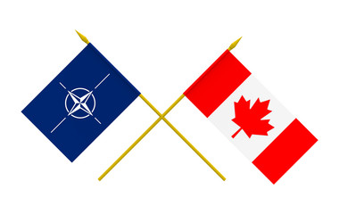 Flags, Canada and NATO