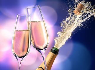Champagner-Splash Violett