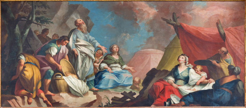 Padua - Moses and the Israelites Gathering of Manna