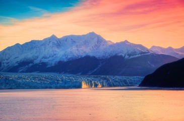 Hubbard Glacier & Sunrise Wall mural