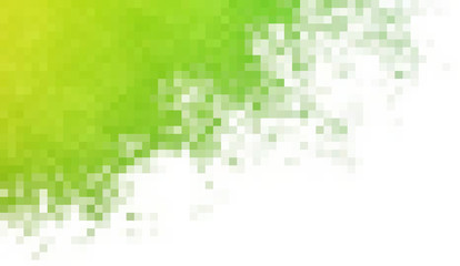 Abstract squared background in green spectrum