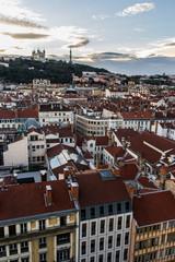 Vue de Lyon du haut de l'Hôtel Dieu