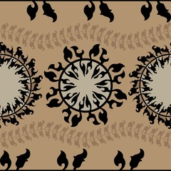 Ornamental round morocco seamless pattern.