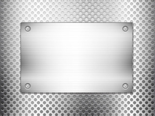 metal grid square plate