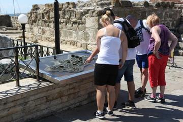 People visit Old Town on August 29, 2014 in Nesebar, Bulgaria
