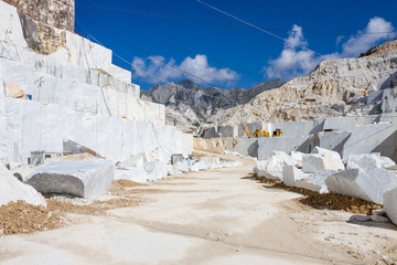 Carrara's marble quarry in Italy