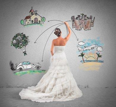 Organizing a wedding