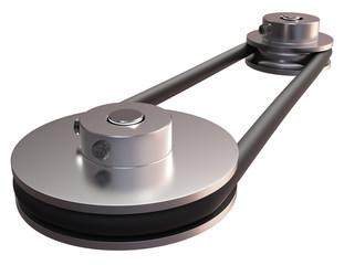 Round belt transmission