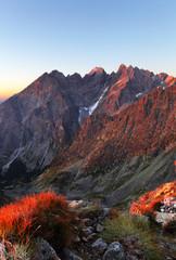 Fototapete - Slovakia mountain autumn landscape