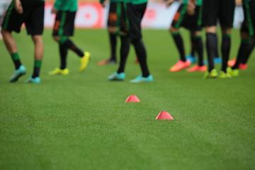 Fußballplatz Training