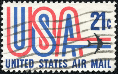 United States Air Mail, face value 20c