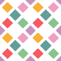 Bright color rhombus seamless pattern background