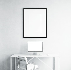 Blank screen and picture