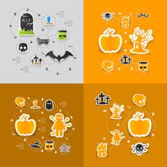 Halloween sticker concept