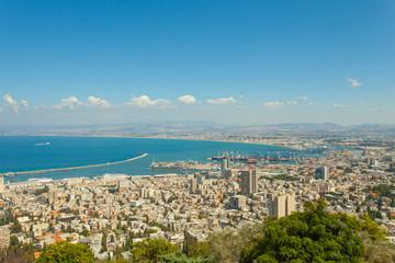 Haifa Israel view from mount carmel