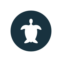 turtle circle background icon.