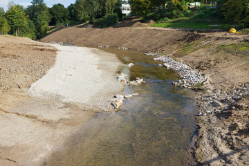 Renaturierung eines Flusslaufes