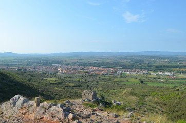 view from montgri massif