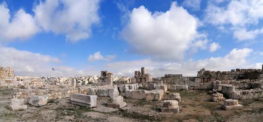 Roman Ruins of the Citadel - Amman, Jordan