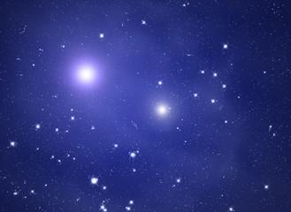 Star cluster as seen through a telescope.