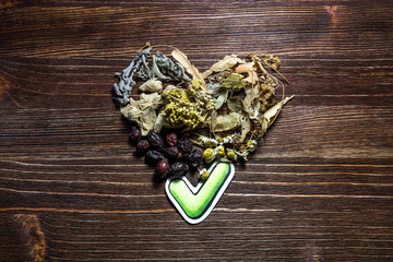 Healthy Choice with heart form.