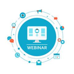 Webinar Illustration. Online Education and Training