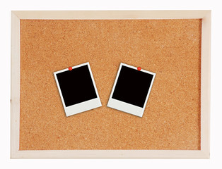 two photo frame on Cork board