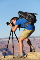 Photographer in Landscape nature in Grand Canyon