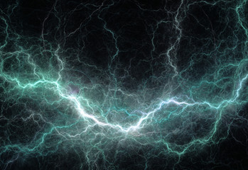 Abstract cyan lightning