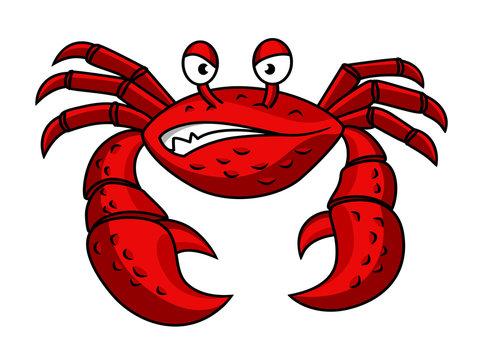 Cartoon red crab character