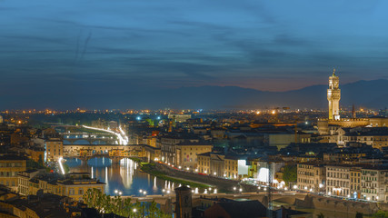 Fototapete - Florence city during sunset, Italy