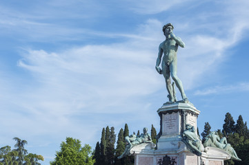 Fototapete - The statue of David by Michelangelo in Florence, Italy