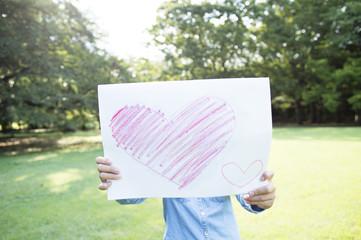 Boy show illustrations of Heart