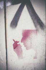 Graffiti pochoir visage