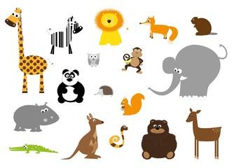 wild animals set- vectors for children
