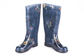Close up of rubber boots.