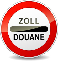 Vector zoll customs sign