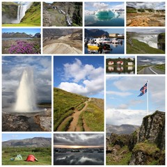 Iceland - travel photo collage