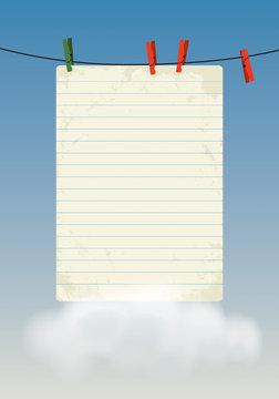 Empty paper sheet illustration.