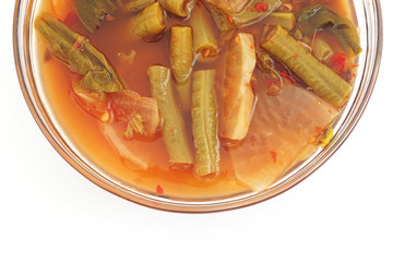 mixed vegetable in sour soup made of tamarind paste
