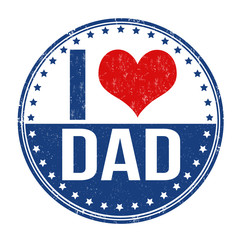 I love dad stamp