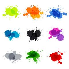 Watercolor hand painted circles set vector spot