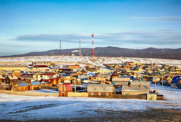 Khuzhir village near Baikal lake