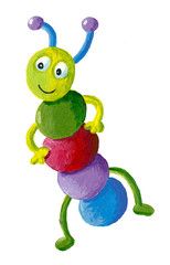 Funny colorful caterpillar