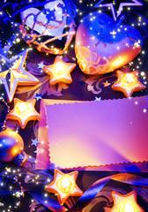 art romantic christmas greeting card