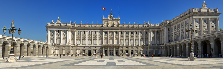 Front view of Royal Palace in Madrid, Spain