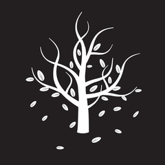 white vector tree
