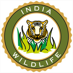 label of India wildlife