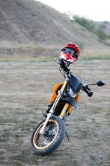 Sport bike for enduro on motocross track
