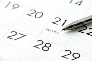 ビジネスイメージ―会議の予定